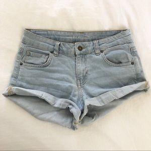 Light Wash Lightweight Blue Denim Shorts